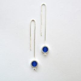boucles d'oreille tub bleu marine