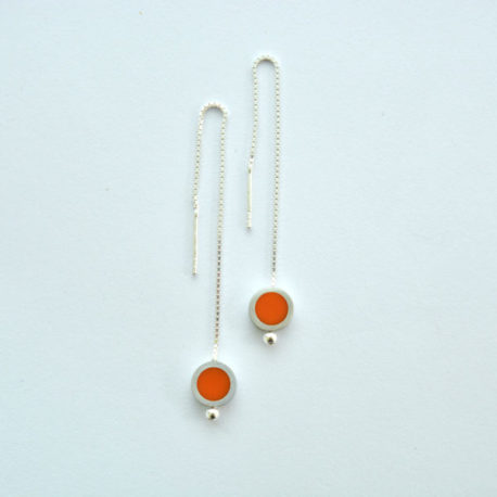 boucles d'oreille tub venitiennes oranges