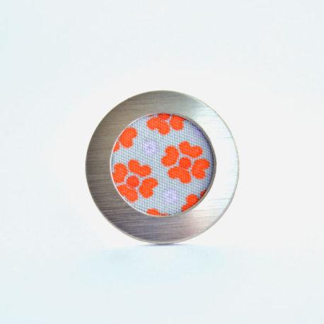 bague tissu fleurs oranges
