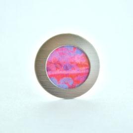 bague tissu rose aquarelle