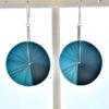grandes boucles doreille venus bleu turquoise