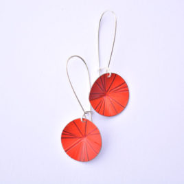 boucles d'oreille vénus orange