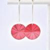 boucles d'oreille vénus rose bonbon