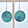 grandes boucles d'oreille vénus bleu turquoise
