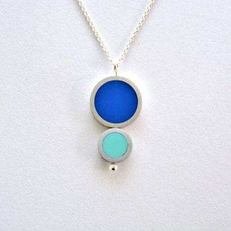 collier tub 2 éléments bleu turquoise