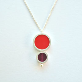 Collier TUB 2 éléments rouge bordeau