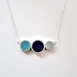 collier tub 3 éléments bleu gris