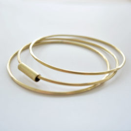 bracelet laiton triple joncs