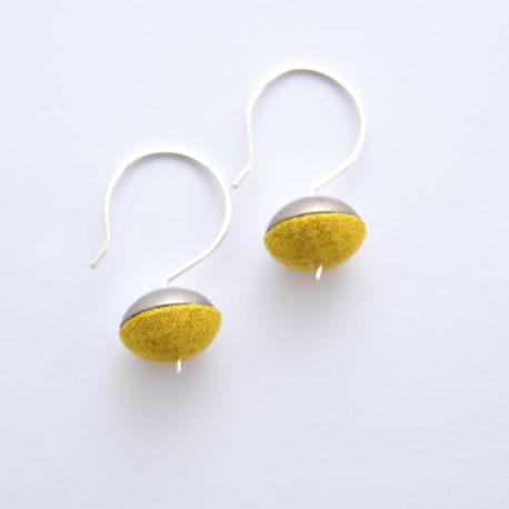 Boucles d'oreille clochettes jaunes