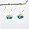 Boucles d'oreille clochettes turquoises