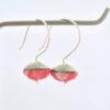 boucles d'oreille clochettes corail