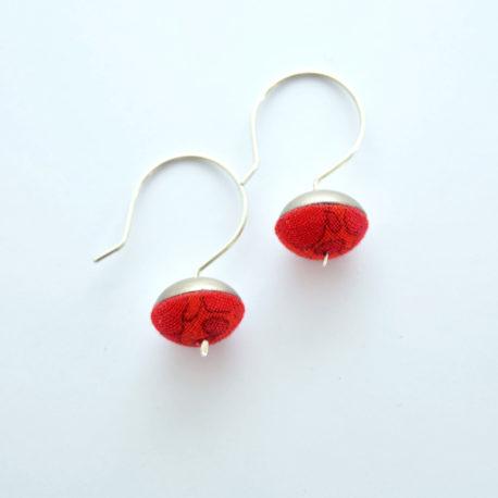Boucles d'oreille clochettes rouges