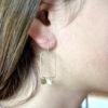 boucles d'oreille laiton deux gouttes