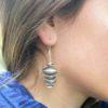 Boucles d'oreille grandes tibétaines
