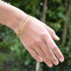 bracelets laiton triples joncs