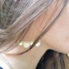 boucles d'oreille laiton demi-cercle
