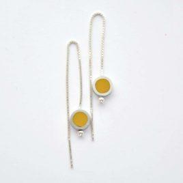 boucles d'oreille TUB venitiennes jaunes