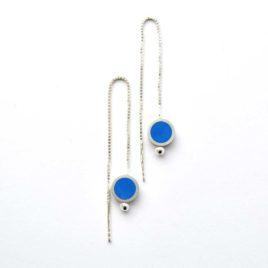 boucles d'oreille tub venitiennes bleues
