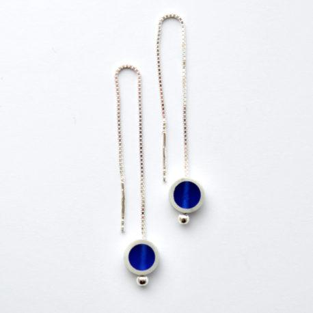boucles d'oreille vénitiennes bleu marine
