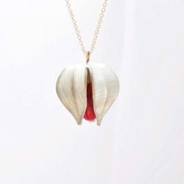 Collier Physalis rouge