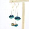 boucles d'oreille cerises bleu atolls